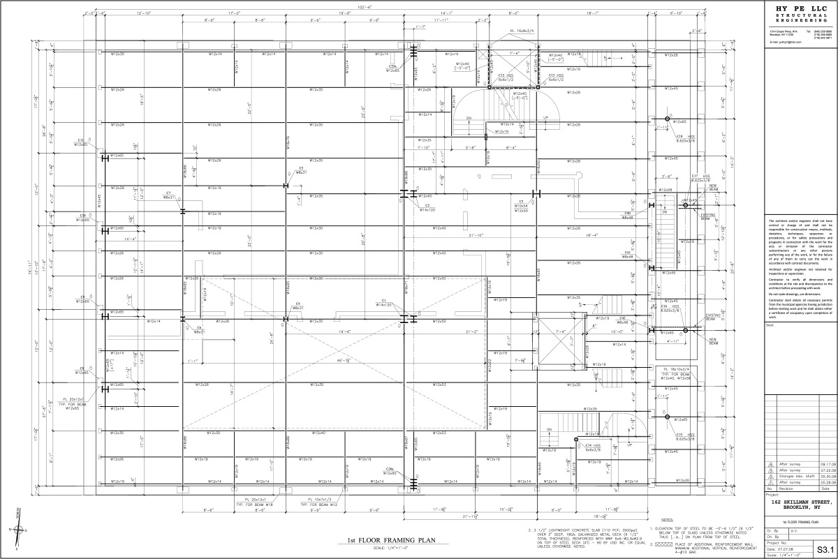 162-skillman-1st-Floor-Framing-Plan