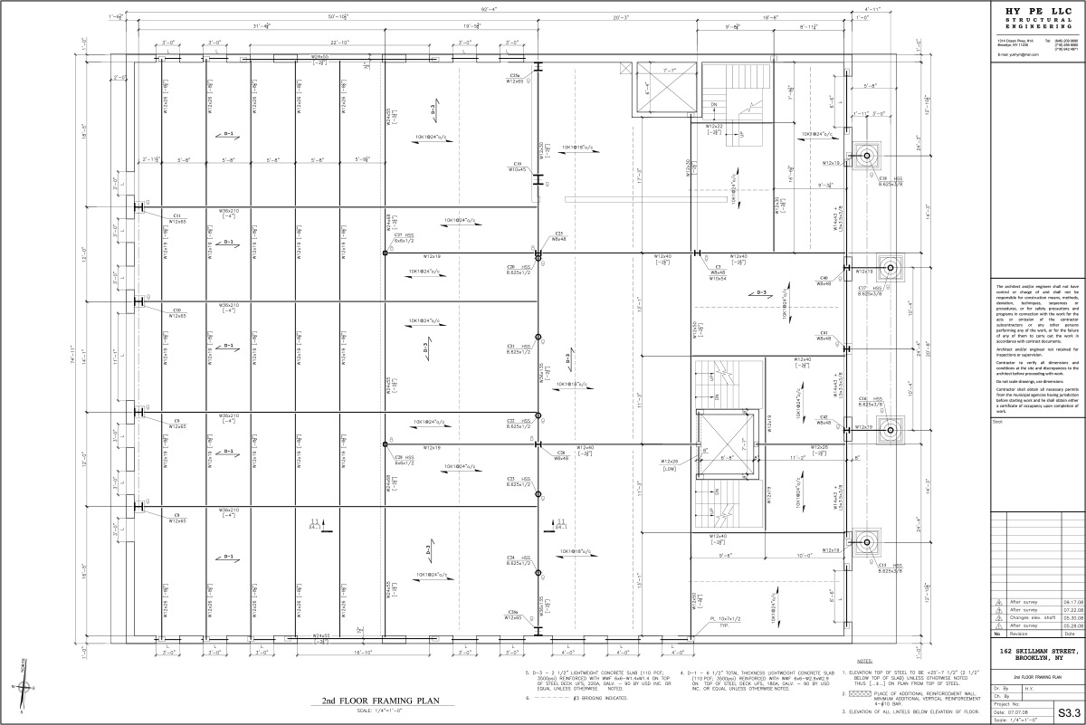 162-skillman-2nd-Floor-Framing-Plan
