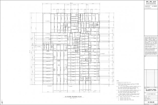 180-1st-Floor-Framing-Plan