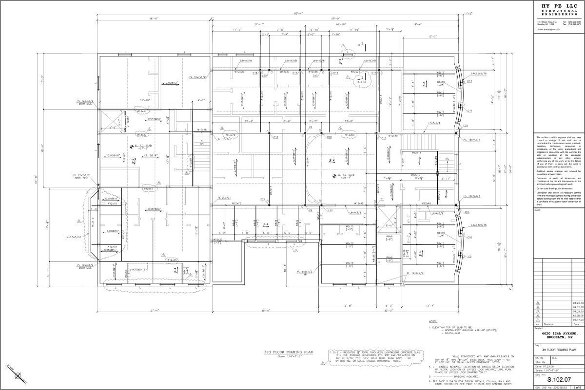 4620-3rd-Floor-Framing-Plan